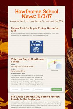 Hawthorne School News: 11/3/17