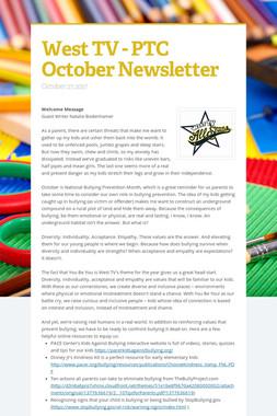 West TV - PTC October Newsletter