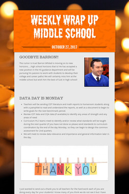 Weekly Wrap Up Middle School