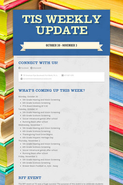 TIS Weekly Update