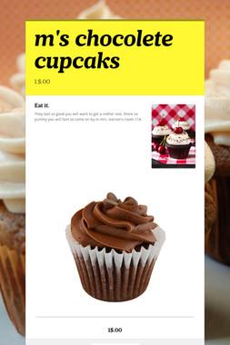 m's chocolete cupcaks
