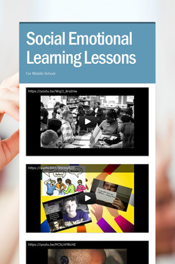 Social Emotional Learning Lessons