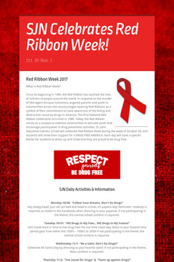 SJN Celebrates Red Ribbon Week!