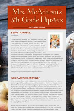 Mrs. McAchran's 5th Grade Hipsters