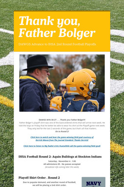 Thank you, Father Bolger