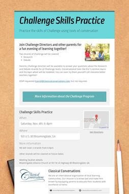 Challenge Skills Practice