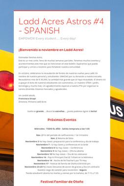 Ladd Acres Astros #4 - SPANISH