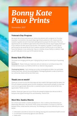 Bonny Kate Paw Prints