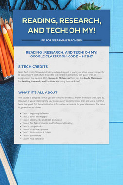 Reading, Research, and Tech! Oh My!