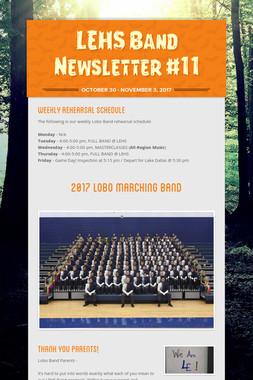 LEHS Band Newsletter #11