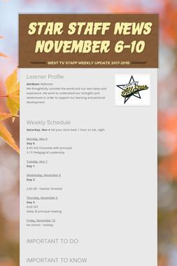 Star Staff News November 6-10