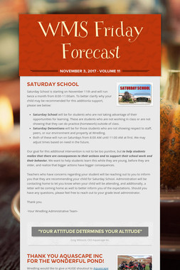 WMS Friday Forecast