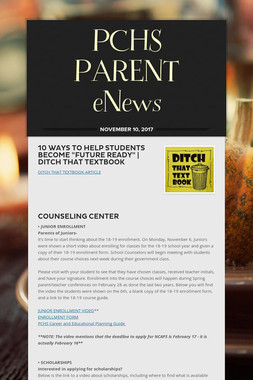 PCHS PARENT eNews