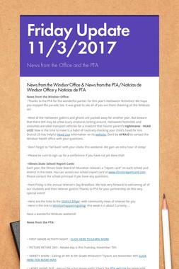 Friday Update 11/3/2017