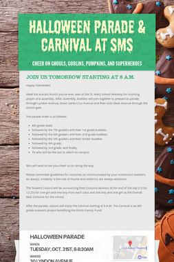 Halloween Parade & Carnival at SMS