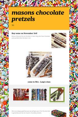 masons chocolate pretzels