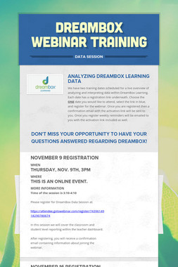 Dreambox Webinar Training