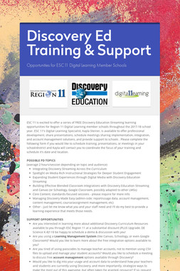 Discovery Ed Training & Support