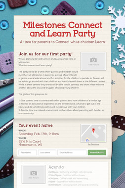 Milestones Connect and Learn Party