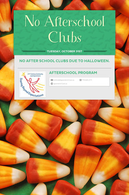 No Afterschool Clubs
