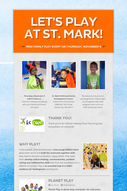 Let's Play at St. Mark!