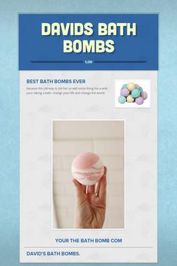 davids bath bombs