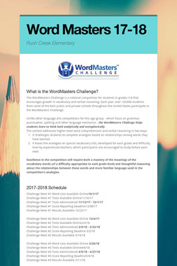 Word Masters 17-18