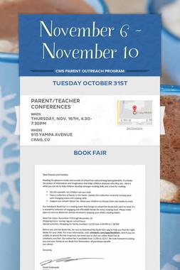 November 6 - November 10