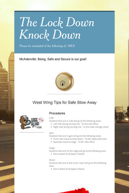 The Lock Down Knock Down
