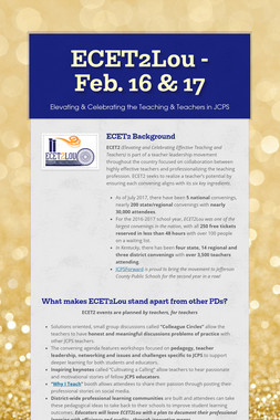 ECET2Lou - Feb. 16 & 17