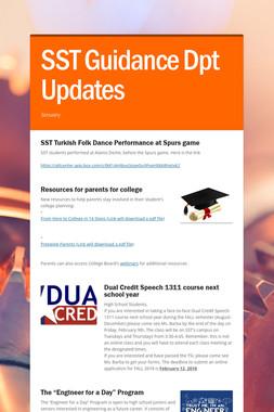 SST Guidance Dpt Updates