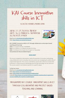 KA1 Course Innovative skills in ICT