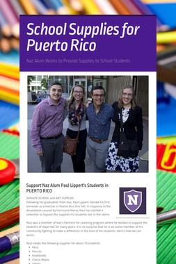 School Supplies for Puerto Rico