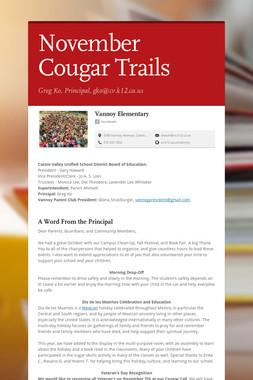 November Cougar Trails