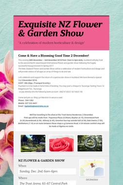 Exquisite NZ Flower & Garden Show