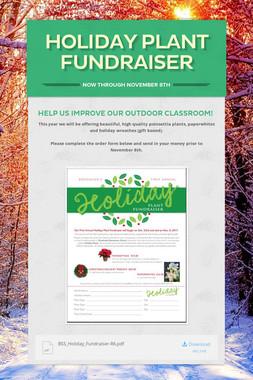 Holiday Plant Fundraiser