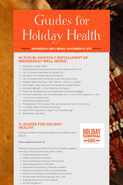 Guides for Holiday Health