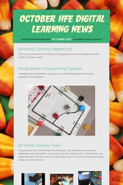October HFE Digital Learning News