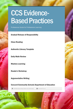 CCS Evidence-Based Practices