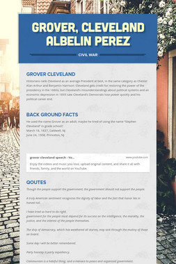 Grover, Cleveland Albelin perez