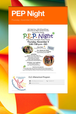 PEP Night