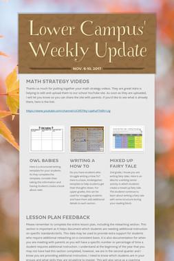 Lower Campus' Weekly Update