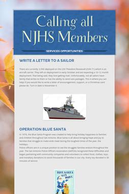 Calling all NJHS Members