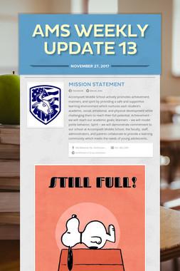 AMS Weekly Update 13