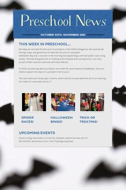 Preschool News