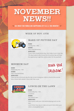 November News!!