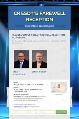 CR ESD 113 Farewell Reception