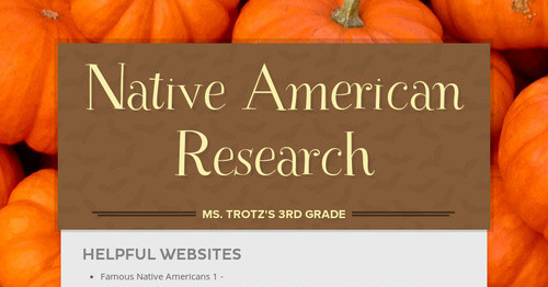 Native American Research   Smore Newsletters for Education