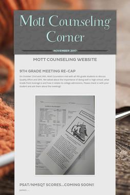 Mott Counseling Corner