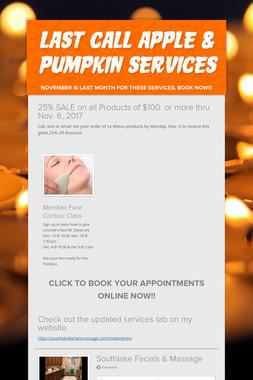 Last Call Apple & Pumpkin Services